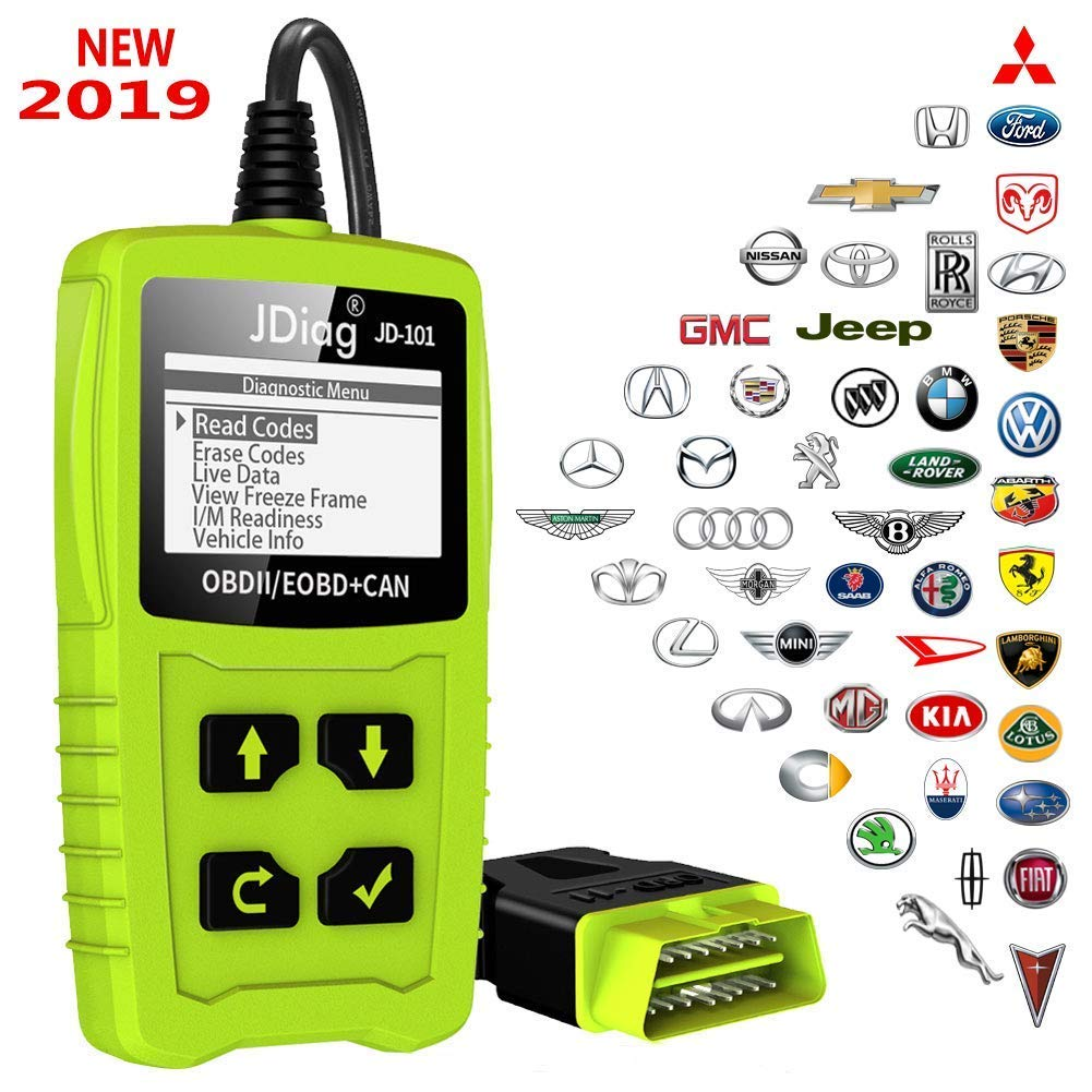 JDiag OBD2 Scanner Auto Check Car Engine Fault Code Reader Enhanced Universal OBD II Classic Diagnostic Scan Tool Suitable for EOBD/CAN Vehicles