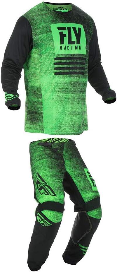 Fly Racing Kinetic Noiz Jersey//Pant Green//Bk S//30