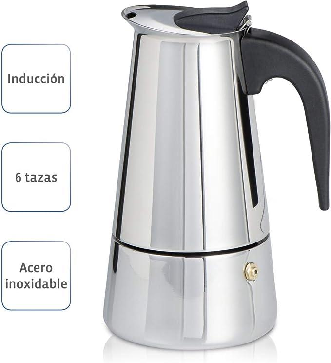 Xavax Cafetera espresso para 6 tazas de café aromático, cafetera ...