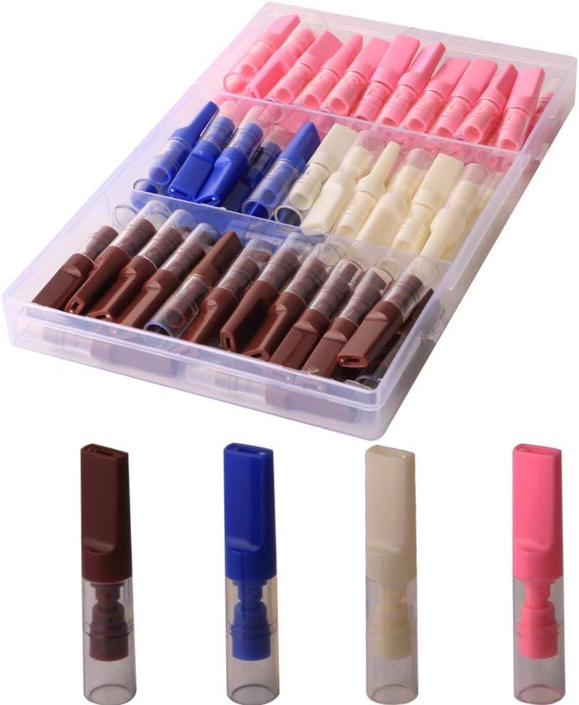 CESFONJER 72 piezas Filtros para Cigarrillos, Filtros Desechables, se pueden aplicar a los cigarrillos con un diámetro de 8 mm y 5 mm | (rosa, azul, blanco, marrón)