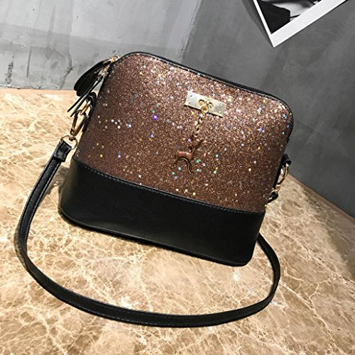 Tote Blu Bag Women bag Leather Bag Bag Sequined Splice Fashion Caffè Shoulder Fami Handbag shoulder Messenger Crossbody FAffBq