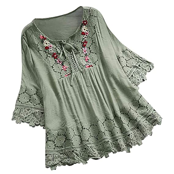 New Womens Ladies Sleeveless V Neck Tie Up Embroidery Summer Blouses Tunic Top