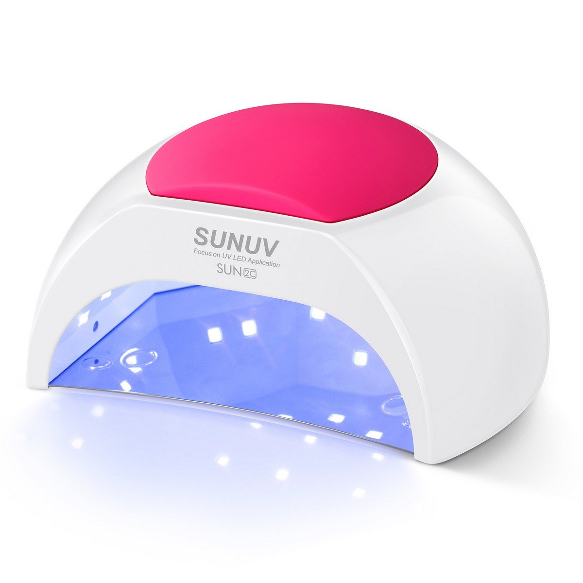 Amazon Com Gel Uv Nail Lamp Sunuv 48w Uv Led Nail Dryer Light For Gel Nails Polish Manicure Professional Salon Curing Lamp With 4 Timer Setting Sensor Sun2c One Pink Pad Beauty