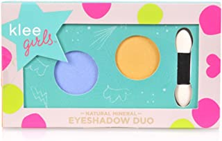 product image for Luna Star Naturals Klee Girls Eyeshadow Duo, Niagara Blaze Nantucket Glint Periwinkle/Gold, 1.3 Ounce