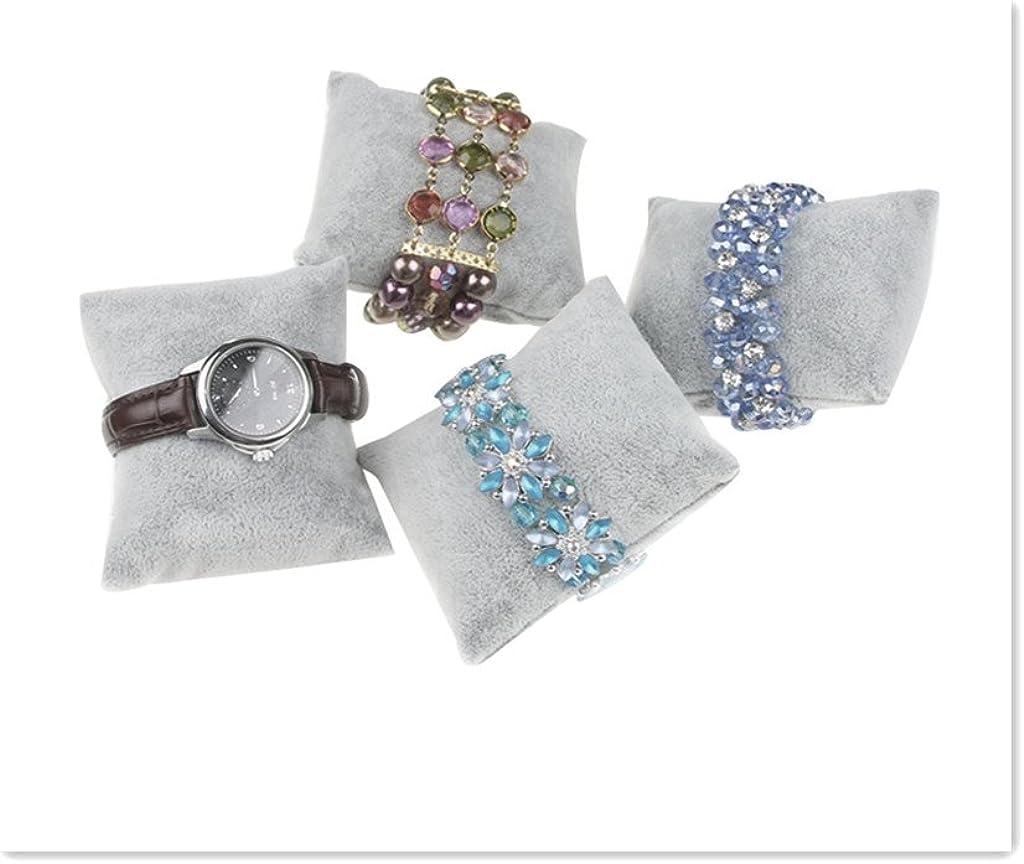 Rouge Seguryy lot de 10 Mini Coussins Pr/ésentation en Velours pour Montre-bracelet Bijoux