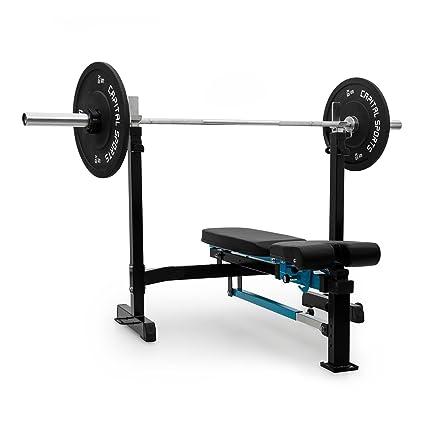 CAPITAL SPORTS Benchex • Banco de entrenamiento • Banco de pesas • Banco inclinado y plano ...