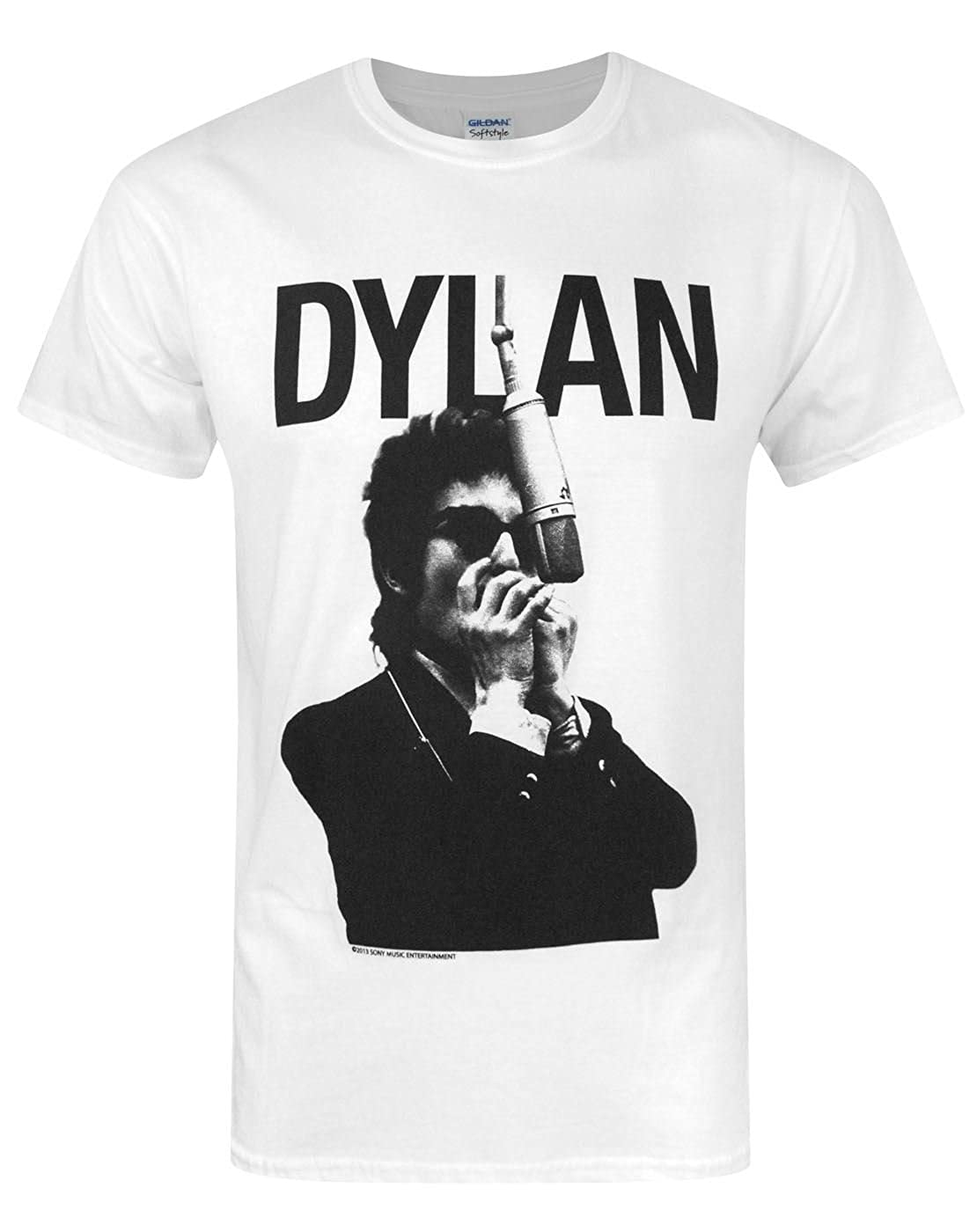60837dc5c776 Amazon.com: Official Bob Dylan Harmonica Men's T-Shirt (S): Clothing