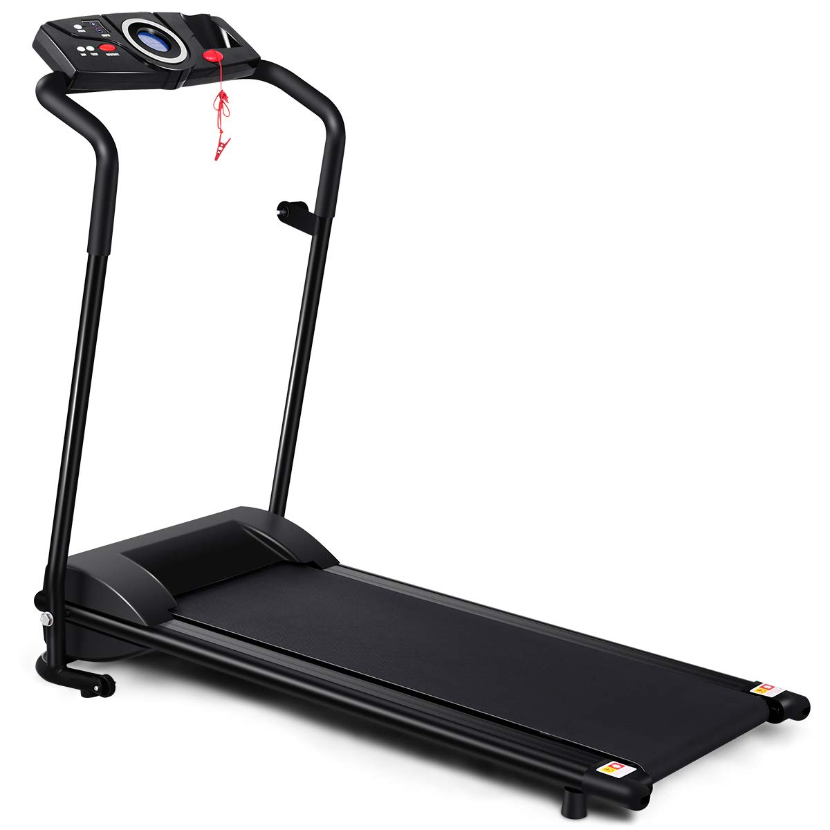 GYMAX Folding Electric Portable Treadmill Low Noise Jogging Walking Running Machine Exercise Treadmill w/Safety Key