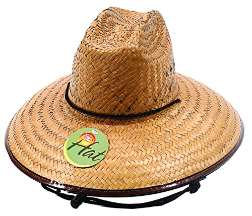 Men's Lifeguard Style Straw Hat for Outdoor Sun Protection