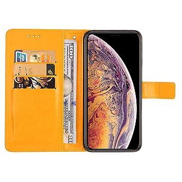 coque iphone xs max apple cuir jaune