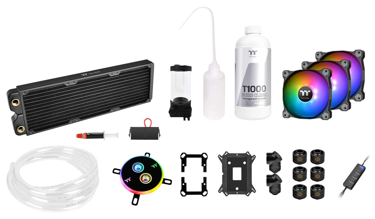 Thermaltake Pacific C360 Ddc Res/Pump 5V Motherboard Sync Copper Radiator Soft Tube Water Cooling Kit CL-W253-CU12SW-A