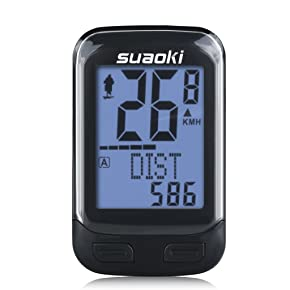 SUAOKI Wireless 2.4GHz Transmission Bike Cycling Computer