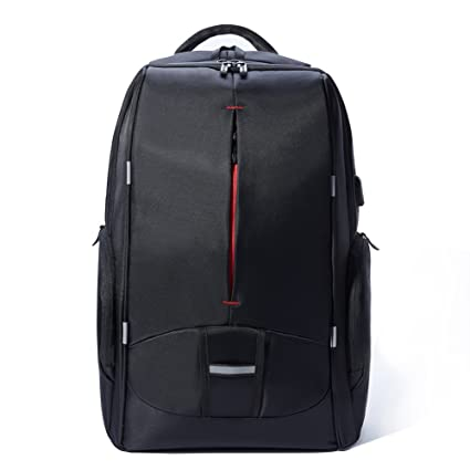 986cdd81379 KALIDI Laptop Backpack 17 Inch Computer Rucksack Waterproof Shockproof USB  Charging Cycling Bag Casual Daypack, 50 cm, Black  Amazon.co.uk  Luggage