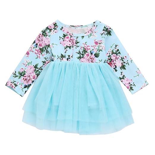 80930d5ee Amazon.com  Vincent July Newborn Baby Girl Clothes Floral Princess ...