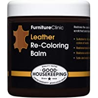 Furniture Clinic Leather Recoloring Balm - Leather Color Restorer for Furniture, Repair Leather Color on Faded & Scratched Leather Couches - 16 Colors for Leather Upholstery (Medium Brown)
