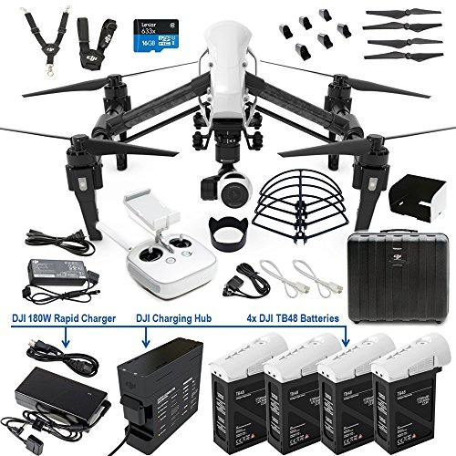 DJI Inspire 1 Single Remote DREAM COMBO includes DJI Charging Hub, 4X...