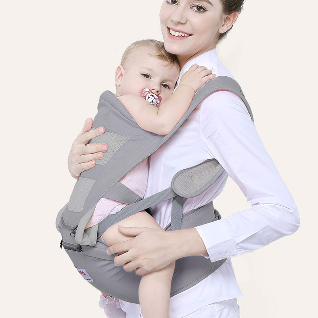 ZDD Taburete Cintura bebé- Baby Sling Front Waist Stool Four Seasons Universal Multifunción Front Sling Hug Child Hold Baby Babies Artefacto (Color : Gris púrpura) c5567e