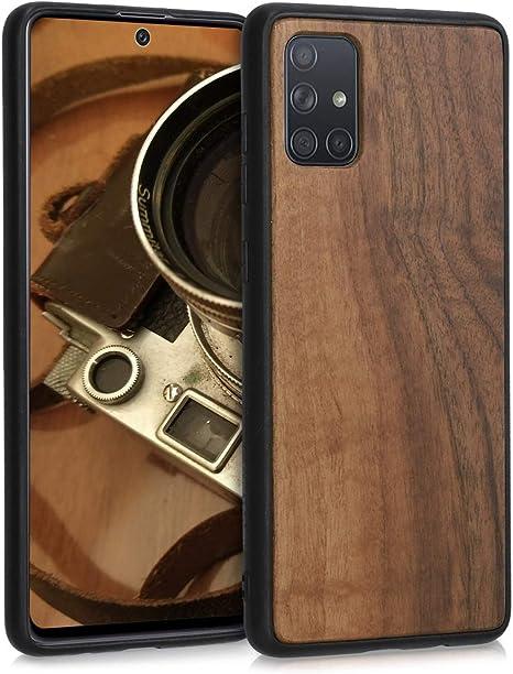 kwmobile Funda Compatible con Samsung Galaxy A71 Carcasa de TPU Silicona Protector Trasero en Amarillo azafr/án