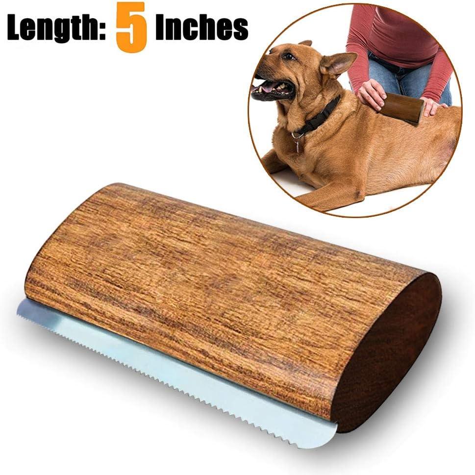 Onebarleycorn - Cepillo para Perros y caballos,cepillo profesional de madera para mascotas(5 inch)