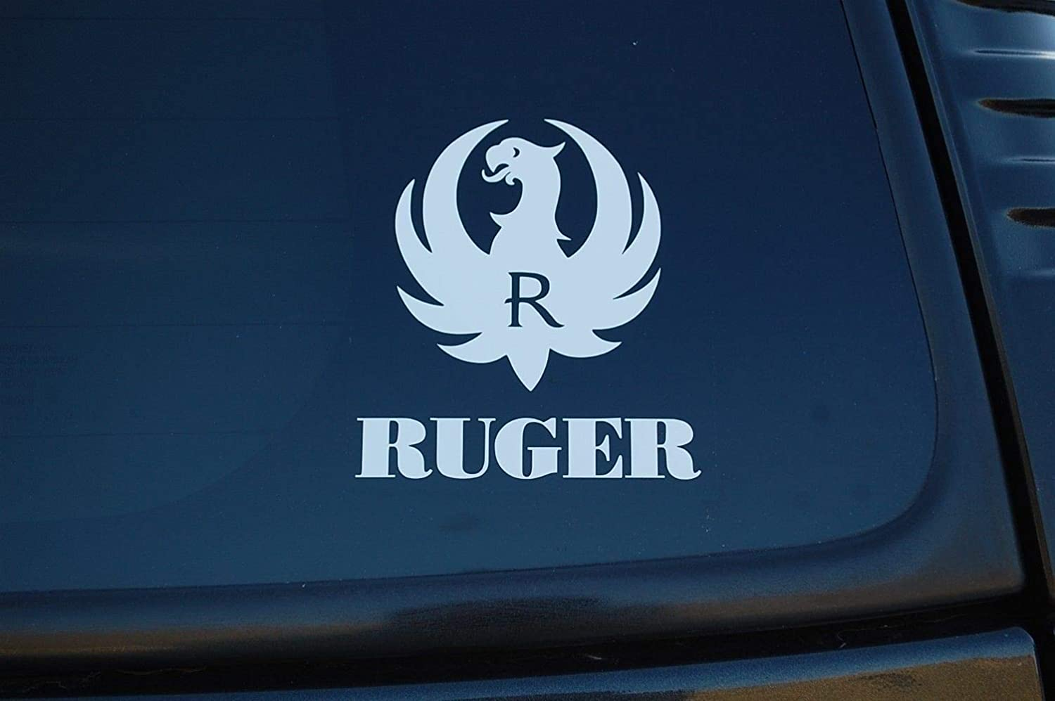 ruger vinyl decal window or bumper sticker with emblem