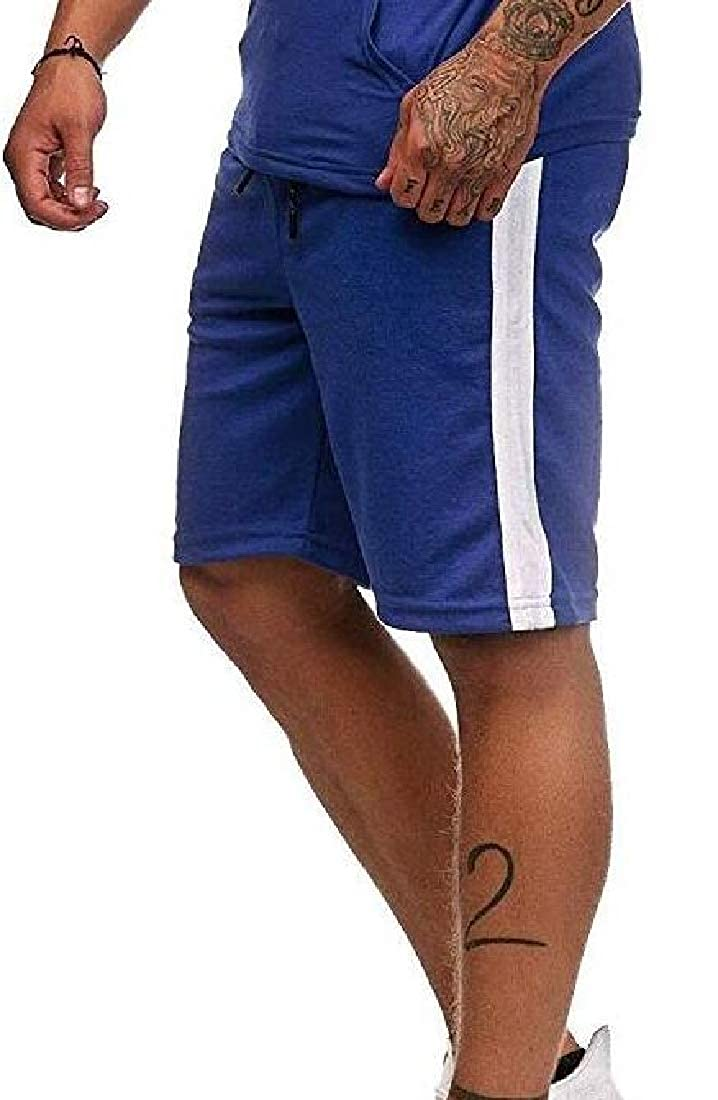 MOUTEN Mens Relaxed Fit Drawstring Gym Workout Casual Contrast Sports Shorts