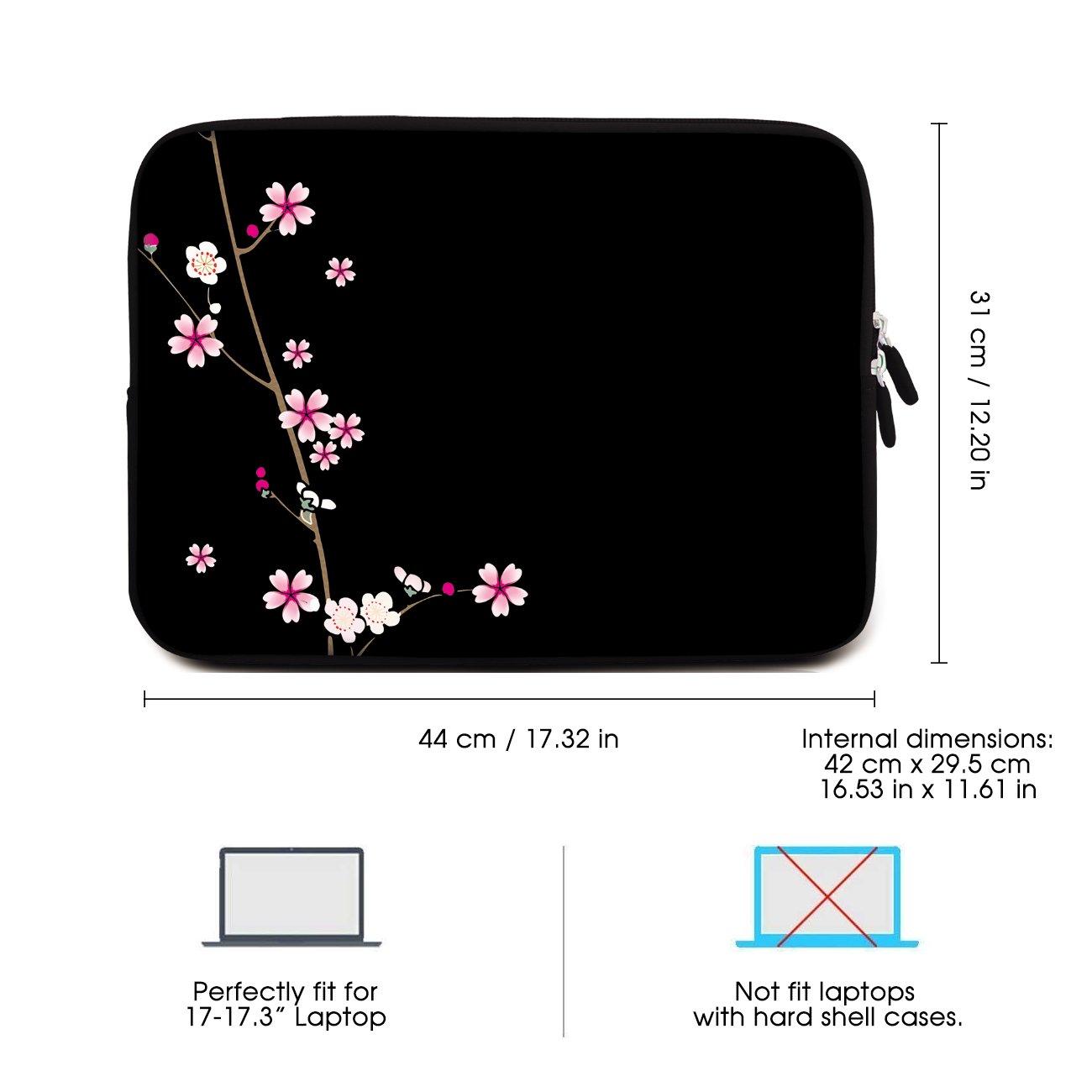 3 Layer Waterproof Sidorenko 17-17.3 Inch Laptop Sleeve Neoprene Notebook Computer Case With Durable Zipper 42 Prints