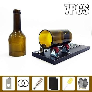 Botella de cristal Cortador, evneed cortador de botellas, se puede ajustable largo herramienta de corte cortador de botellas Botellas de vino y botellas de ...