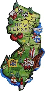 Treasure Gurus State of New Jersey Artwood Jumbo Fridge Magnet
