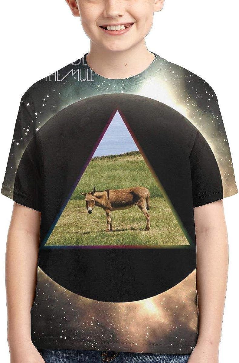 BowersJ Childrens Gov/â/€t Mule Dark Side of The Mule Design 3D Printed Short Sleeve T-Shirts for Girls /& Boys Black