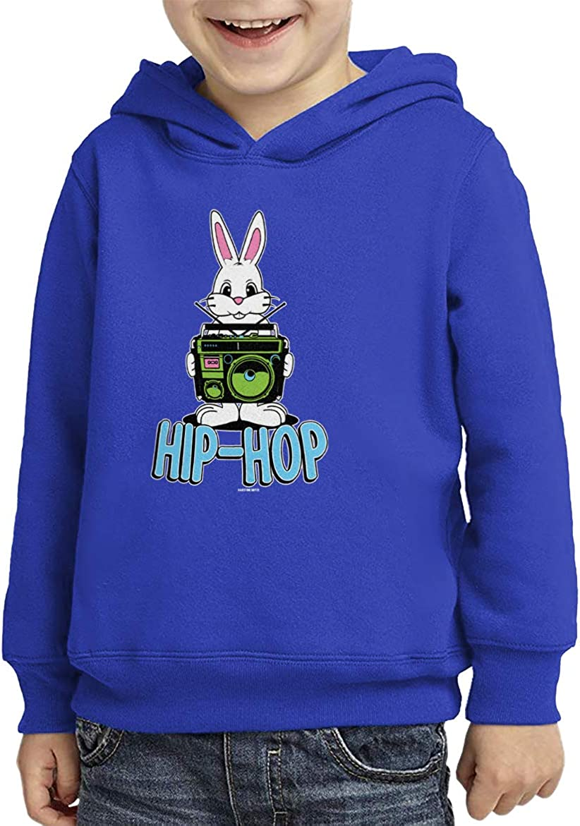 Boombox Pun Funny Toddler//Youth Fleece Hoodie HAASE UNLIMITED Hip Hop Bunny