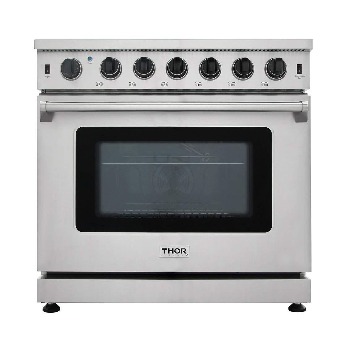 New Arrival 36 Inch Gas Range 6 Burners Cooktop 6.0 cu.ft Oven Thor Kitchen LRG3601U by Thor Kitchen Products
