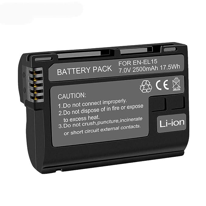 Palo 2 Pack de Repuesto 2500mAh Batería Nikon EN-EL15 para Nikon 1 ...