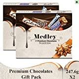 SNICKERS Medley Assorted Chocolates Gift Pack (Snickers, M&M's, Bounty and Galaxy)- 495.2g, Pack of 2