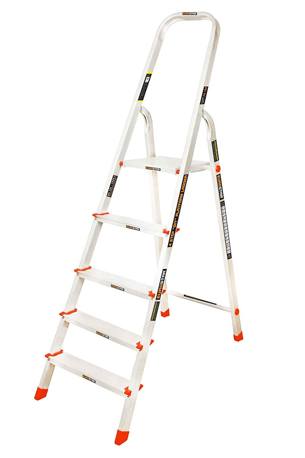 Eurostar 105 Aluminium 4 Step with Platform Ladder (Silver)