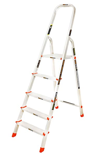 Eurostar Aluminium Platform Step Ladder (Silver)
