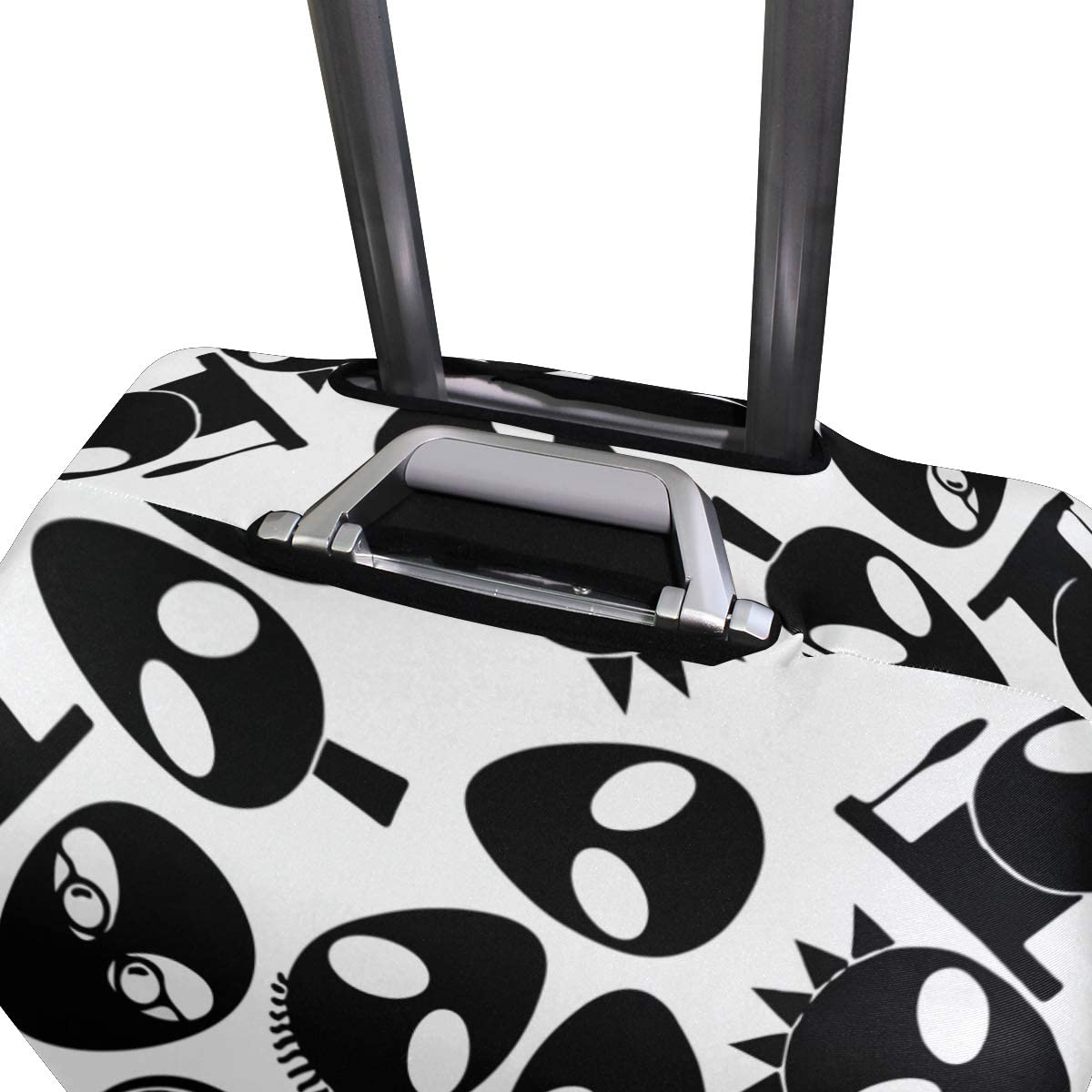 FANTAZIO Cool Alien Pattern Suitcase Protective Cover Luggage Cover