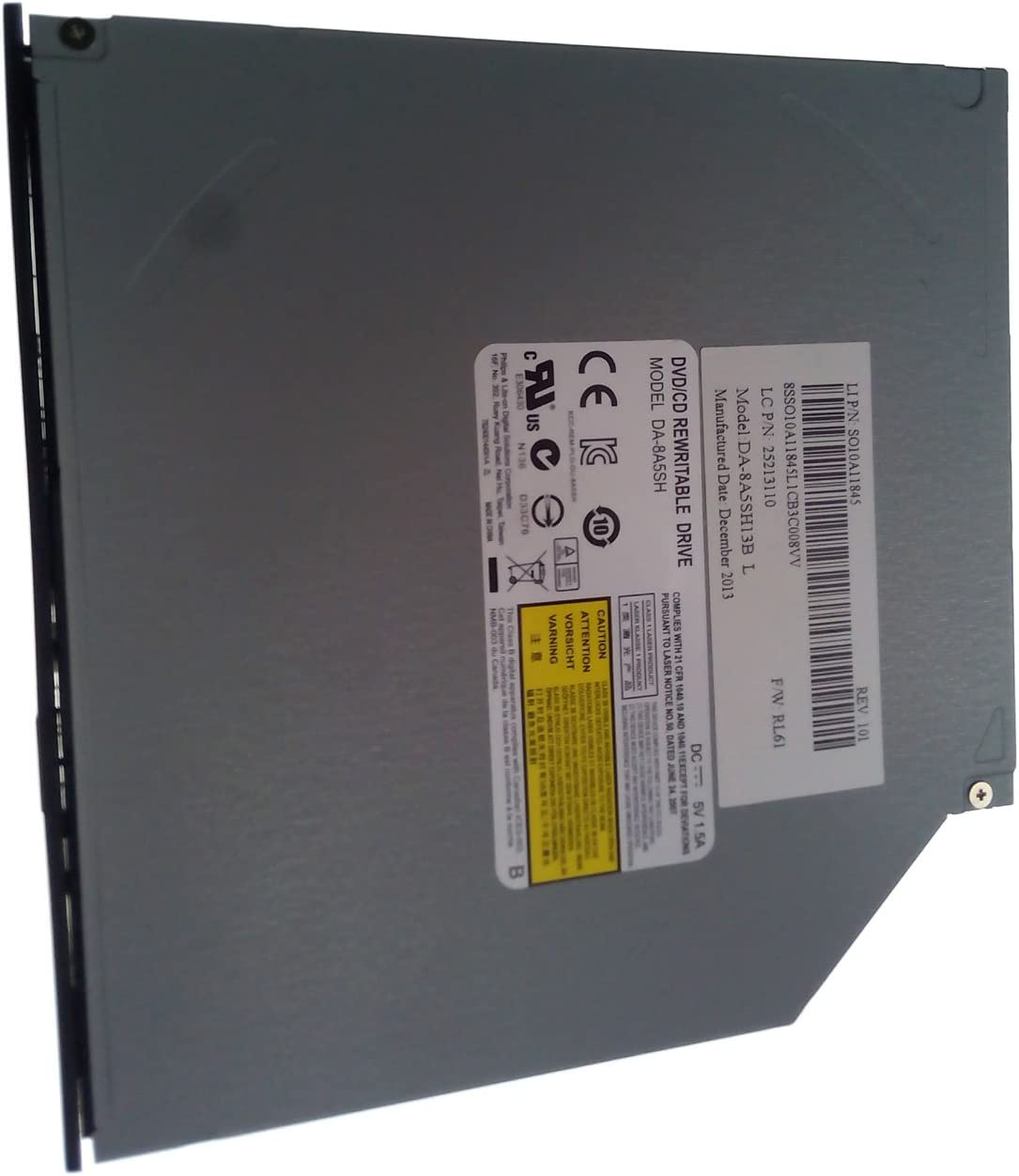 DVD//CD REWRITABLE DRIV DA-8A5SH for Asus X751M X550C X550CA X550CC X550LB Acer 5333 5733 eMachines E529 Lenovo IdeaPad S510p