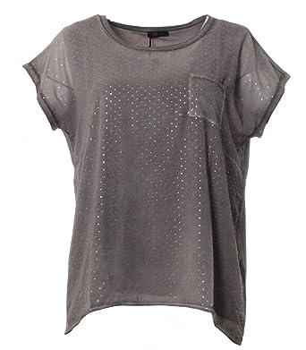 half off d6ed6 4c6b2 No Secret XXL T-Shirt Damen mit Glitzer-Punkten große Größen ...
