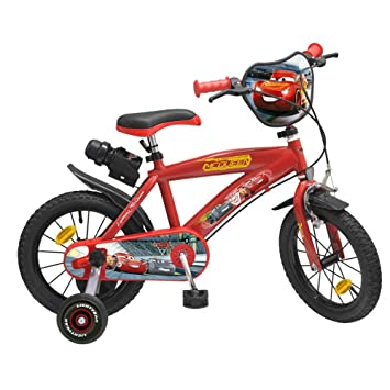 3 Disney Cars 14 Inch Bike: Amazon.co.uk: Sports & Outdoors