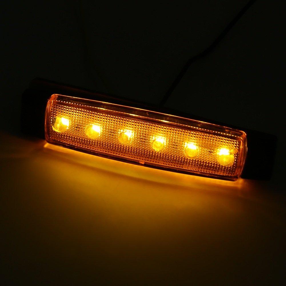 VGEBY 24V Luci Laterali per Bus Indicatore Luminoso Lampada Indicatore del Rimorchio Luce Rossa 10 pezzi Ambra Colore : Rosso