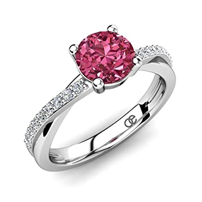 ring rings pink rose diamond audry tourmaline engagement img
