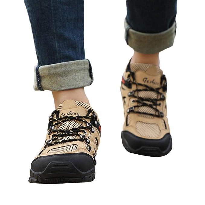 JiaMeng Zapatillas Deporte Hombre Zapatos de Entrenamiento para Hombre Malla Respirable Zapatillas para Caminar al Aire Libre Zapatos Antideslizantes: ...
