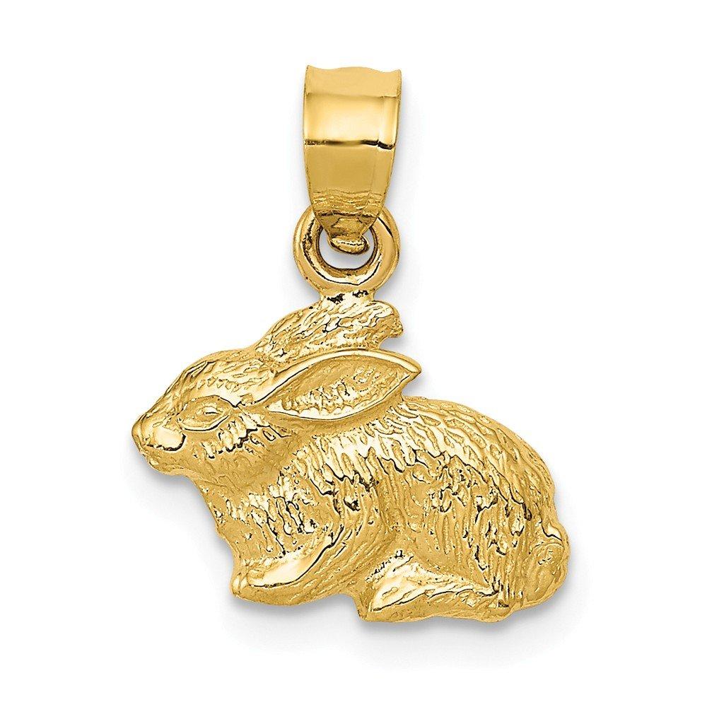 14k Yellow Gold Polished Rabbit Pendant
