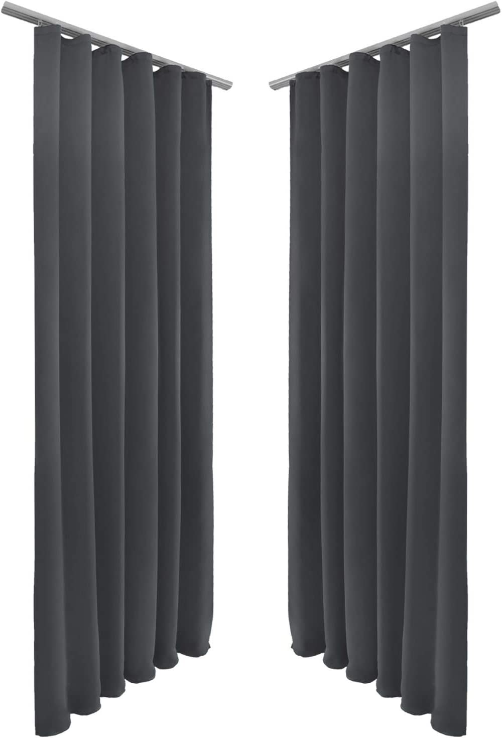 BSZHCT Gardinen Vorhang Blickdicht mit /Ösen 2er Set 75x166cm weisser Marmor Polyester Gardine Verdunklungsvorh/änge Thermovorhang lichtdicht f/ür Wohnzimmer Kinderzimmer