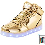 AFFINEST LED Cambi- Sneaker Scarpe Unisex Bambini Presa USB Sport Regali Ragazza Ragazzi Scarpe Telecomando