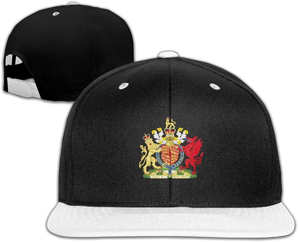 Coat of Arms of The Kingdom of England and Wales Unisex Hip Hop Cap Adjustable Snapback Hats Caps