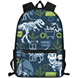 FOR U DESIGNS Bag to School Big Capacity Schoolbag for Kids Dinosaur Pattern Shoulder Bookbags Casual Daypack