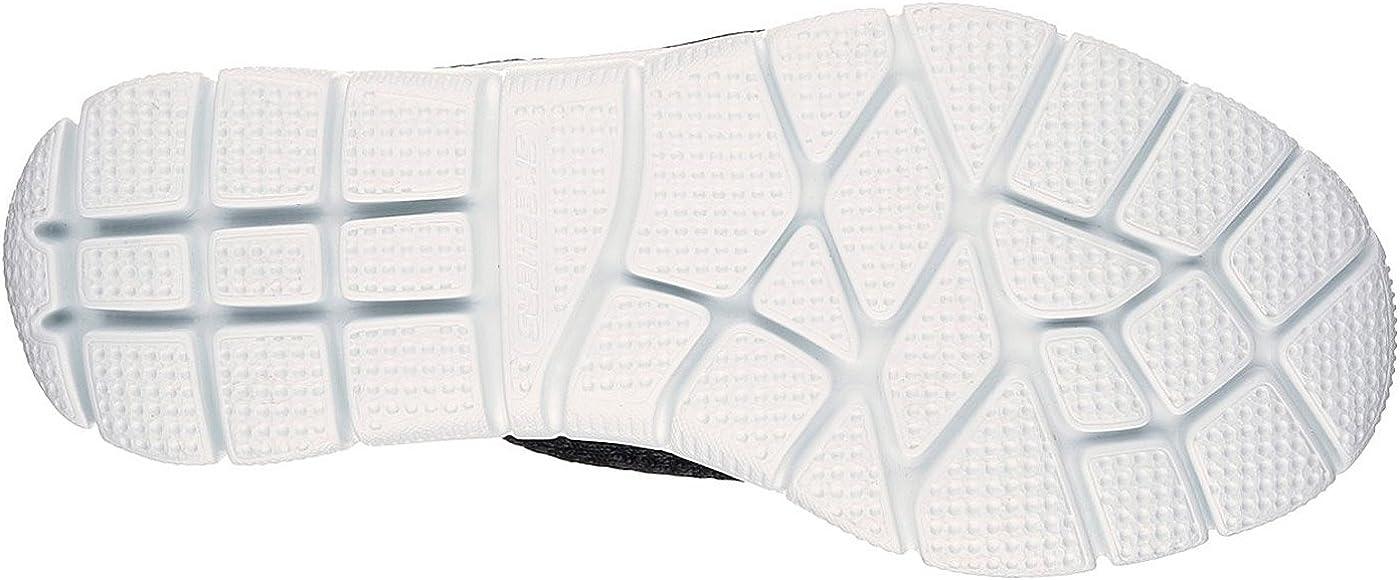 Skechers Empire-Sharp Thinking, Sneaker Infilare Donna Nero Bianco