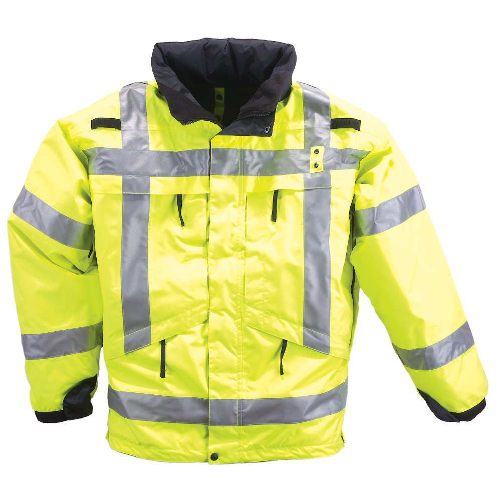 5.11 Tactical #48033 3-in-1 High Visibility Reflective Parka (Reflective Yellow, 3X-Large)