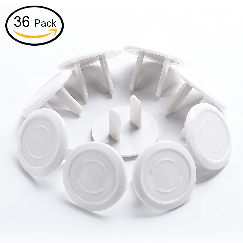 Outlet Covers, Child Proof Safety Electrical Plugs Protector,TASIPA Baby Safety Plug Covers(36 Pack/White)
